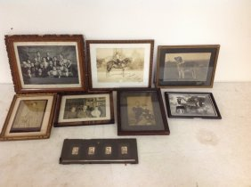 Boxlot Framed Family Photographs Including Animals, 1