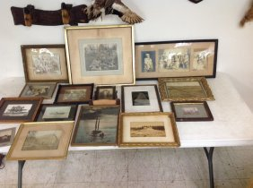 Big Boxlot Misc Framed Photographs Including Theater