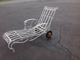 Salterini Iron Outdoor Chaise Lounge