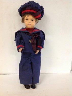 Schoenhut Boy Doll In Sailor Suit From Estate