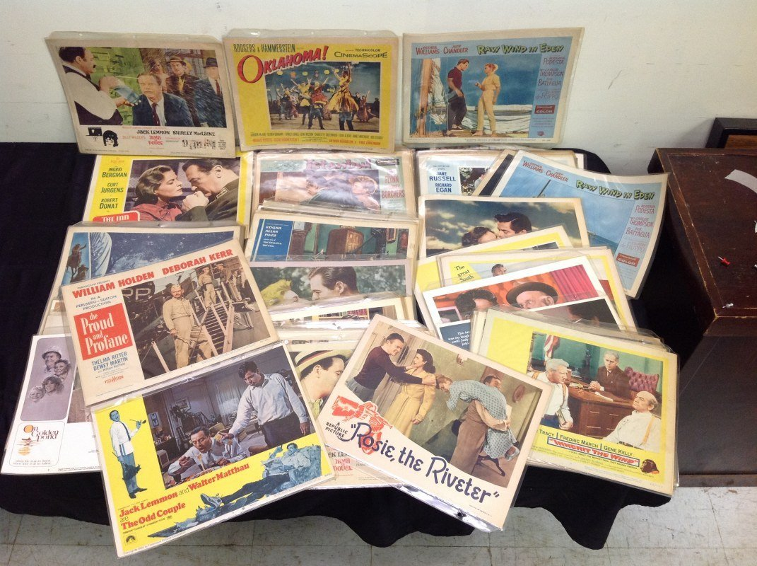 LOT OF APPROX 140 LOBBY CARDS, MOSTLY 50'S-70'S, FROM