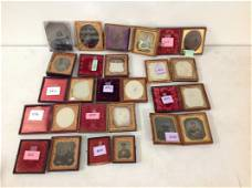 LOT OF 16 CASED IMAGES INCLUDING 8 SIXTH-PLATE