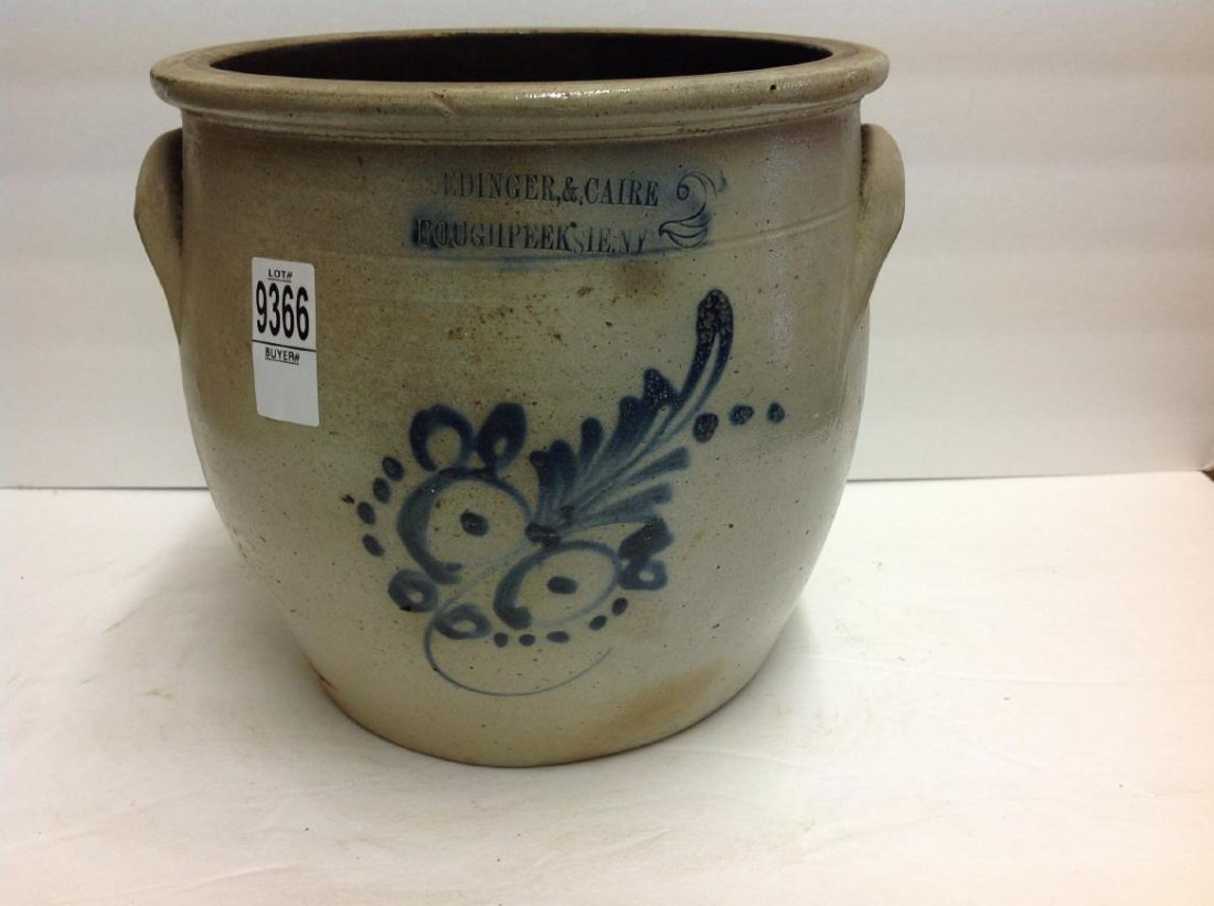REDINGER & CAIRE POUGHKEEPSIE NY BLUE DECORATED