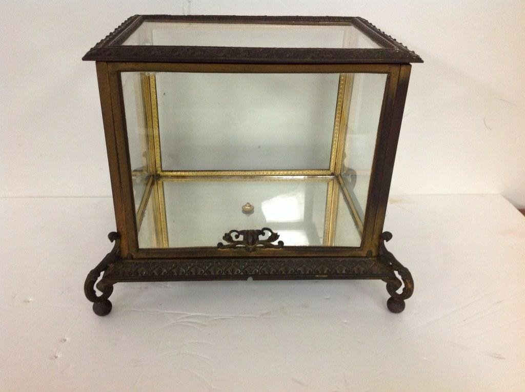 CIRCA 1880'S BRONZE TABLE TOP DISPLAY CASE WITH FANCY - 2