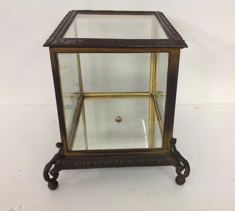 CIRCA 1880'S BRONZE TABLE TOP DISPLAY CASE WITH FANCY - 3