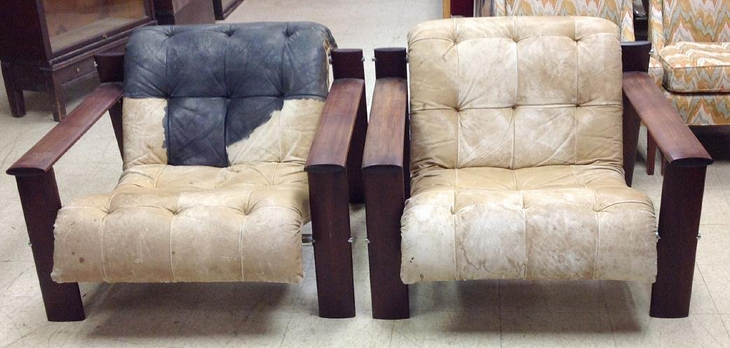 PAIR OF BRAZIL INDUSTRIES, MID-CENTURY STYLE ARM CHAIRS