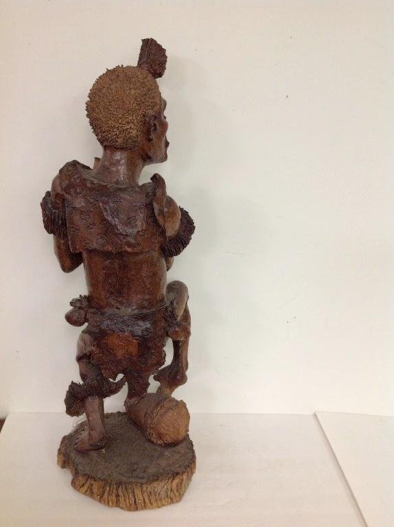 """32"""" HIGH AFRICAN (?) CARVED FIGURE OF MAN, NOT SURE OF - 5"""
