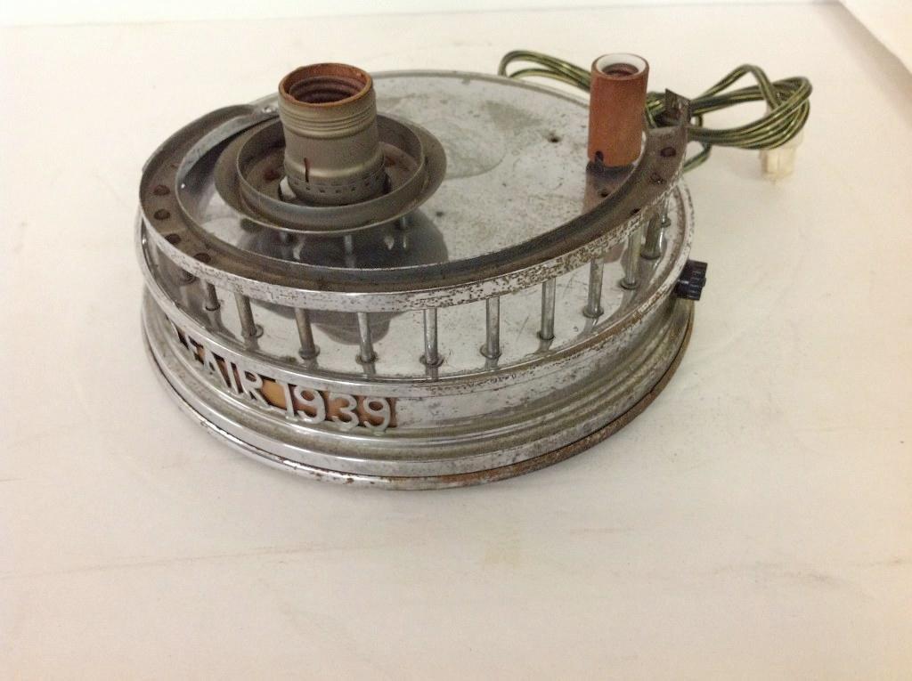 1939 WORLDS FAIR CHROME LAMP BASE FOR PERISPHERE & - 3