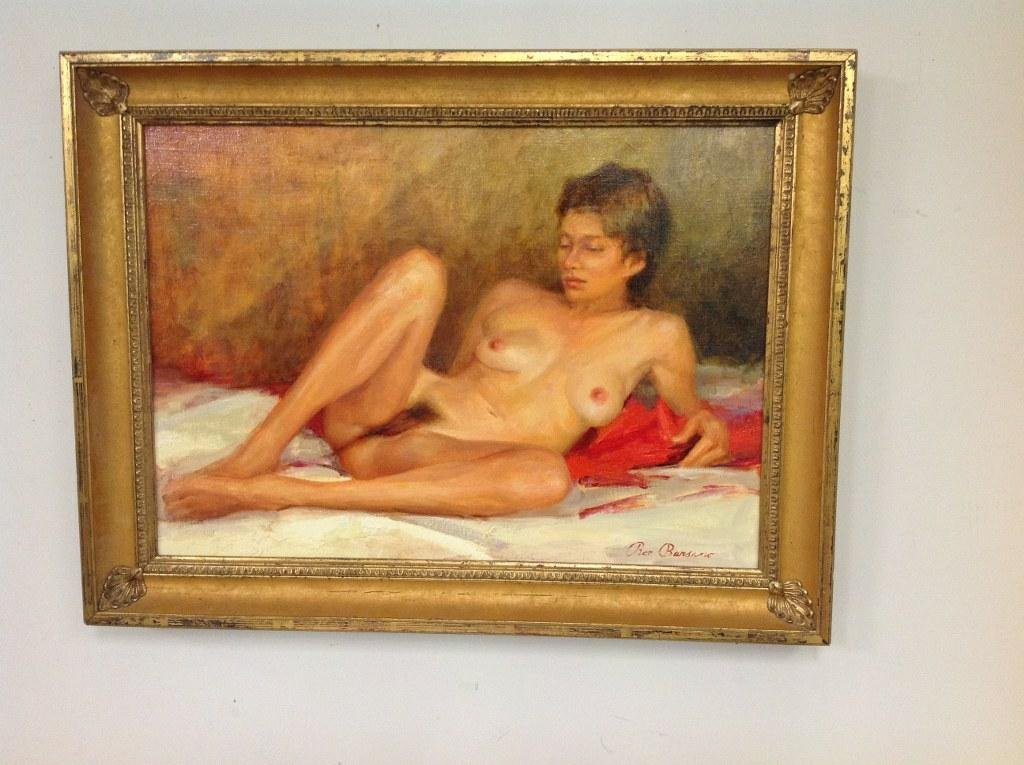 RON BARSANO O/C NUDE FEMALE TITLED- BUTTERFIL, SIGNED
