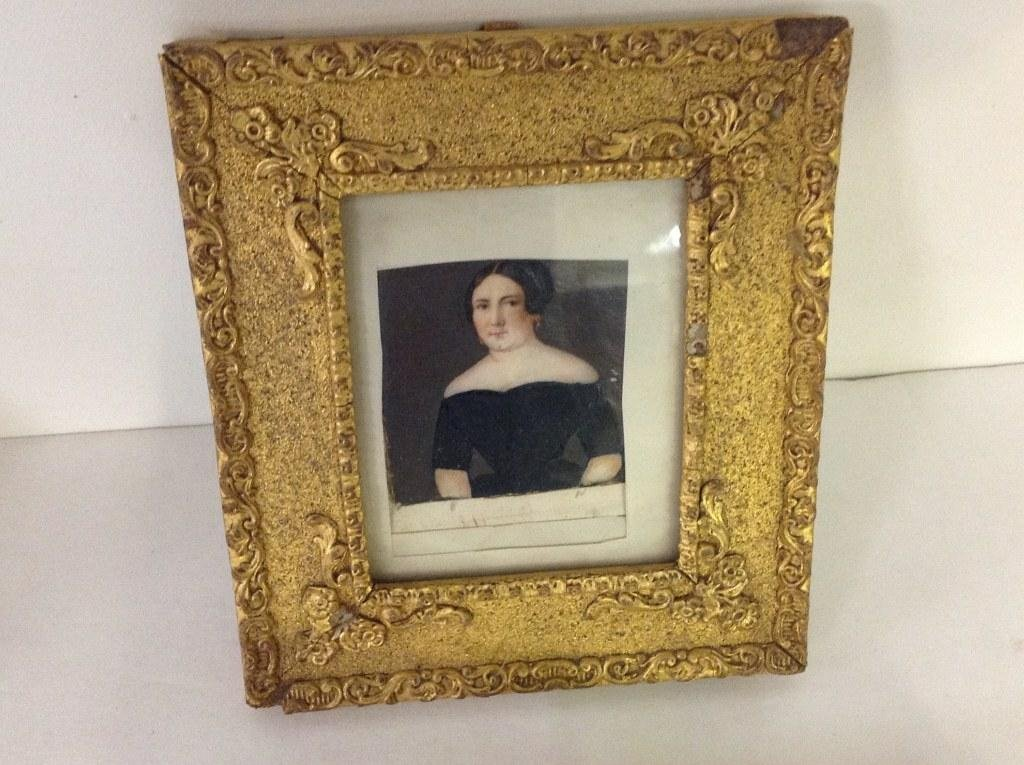 LOT OF 2 DAGUERROTYPES & MINIATURE PORTRAIT OF WOMAN, - 3