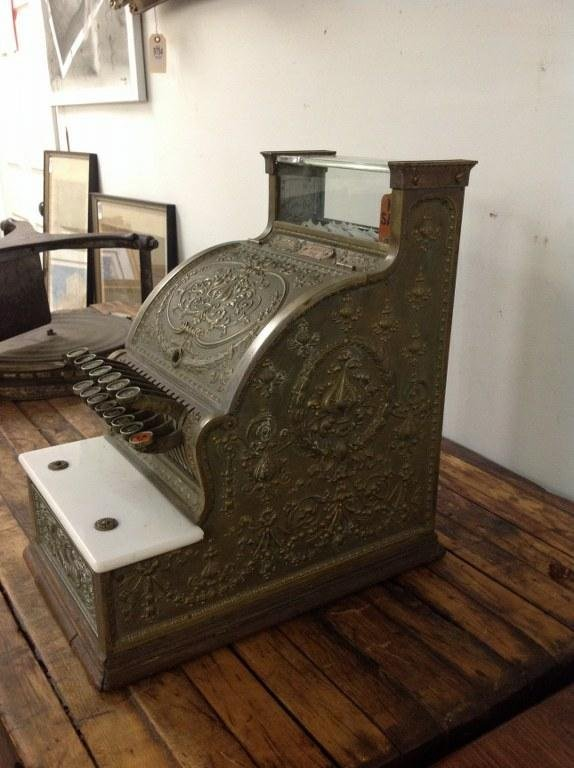 NATIONAL BRASS CASH REGISTER MODEL 313 BARBERSHOP OR - 2