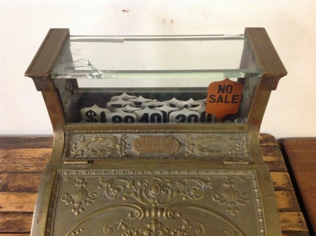 NATIONAL BRASS CASH REGISTER MODEL 313 BARBERSHOP OR - 5