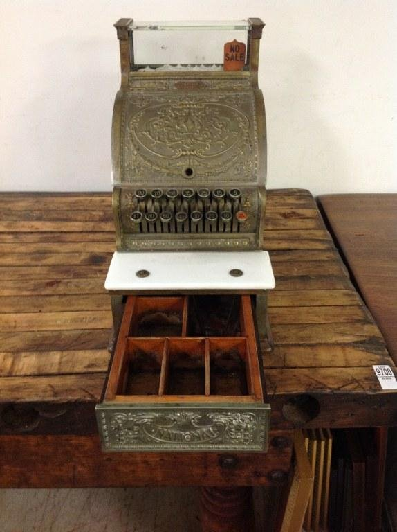 NATIONAL BRASS CASH REGISTER MODEL 313 BARBERSHOP OR - 6