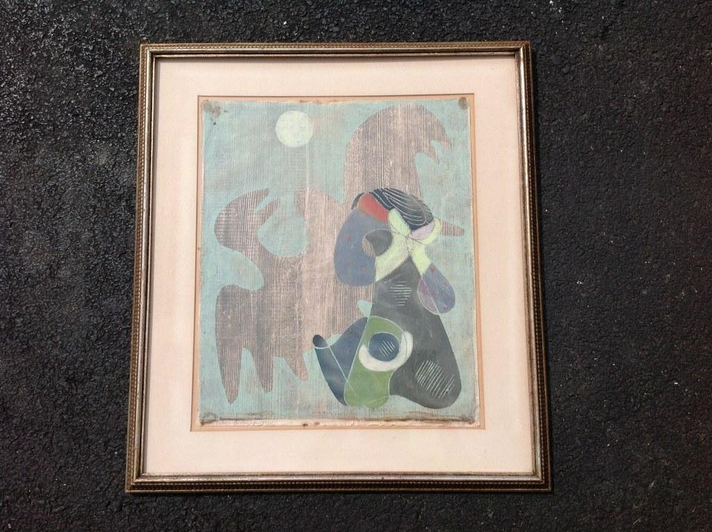 ROLF MULLER LANDAU SIGNED MONOTYPE PRINT TITLED AS