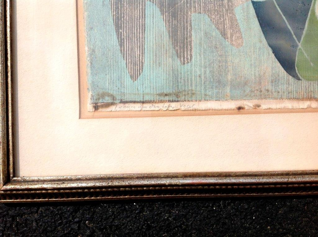 ROLF MULLER LANDAU SIGNED MONOTYPE PRINT TITLED AS - 3
