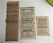 3 EARLY THEATRE BROADSIDES INCL WITCHCRAFT  HAMLET
