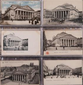 BRUXELLES. Ensemble 196 cartes postales du centre ville