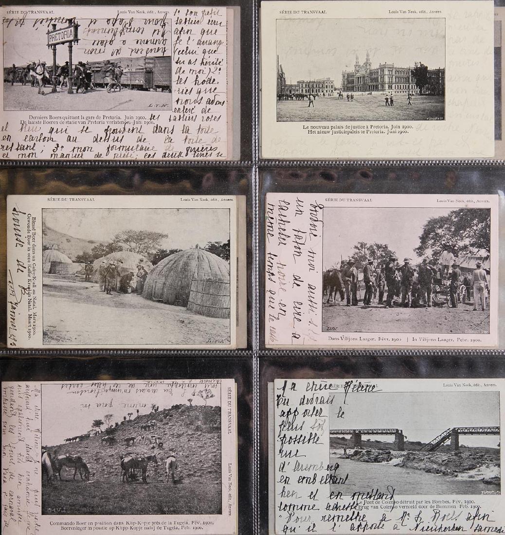 AFRIQUE DU SUD. Guerre des Boers. Ensemble de 58 cartes