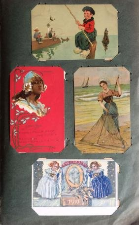 FANTAISIE. Environ 205 cartes postales.