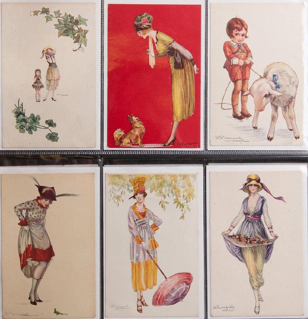 ILLUSTRATEURS. 373 cartes postales, thèmes divers. - 2