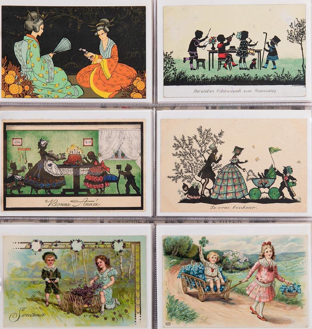 VARIA. Album composé d'environ 310 cartes postales, épo