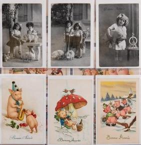 VOEUX de bonne année. 670 cartes postales, époques
