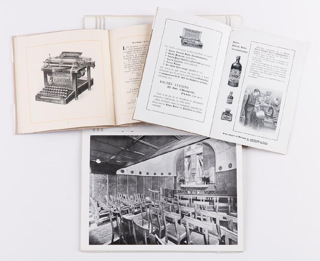 LOT de 10 catalogues commerciaux ou plaquettes publicit