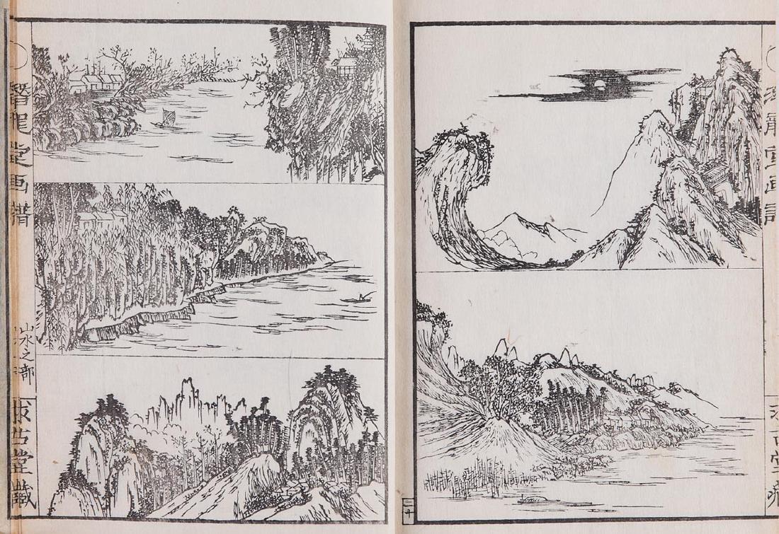 [JAPON] [Recueil de paysages en noir].