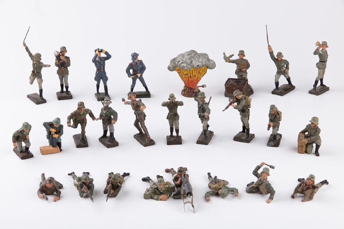 [ALLEMAGNE] LINEOL - Armée allemande. 23 figurines
