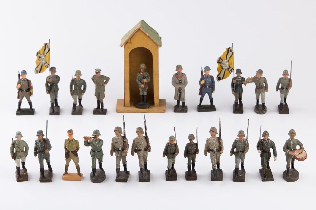 [ALLEMAGNE] LINEOL - Armée allemande. 1 porte-drapeau