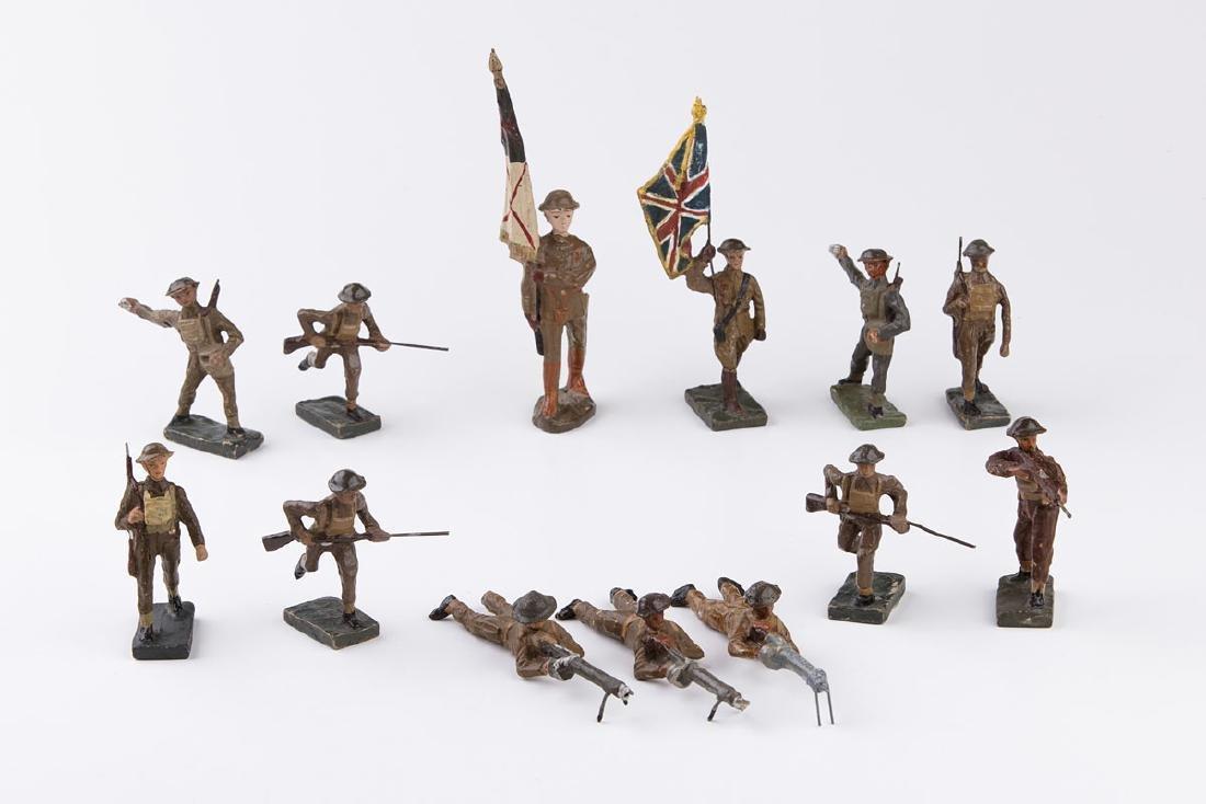 [ANGLETERRE] DURSO - Armée anglaise. 2 porte-étendard