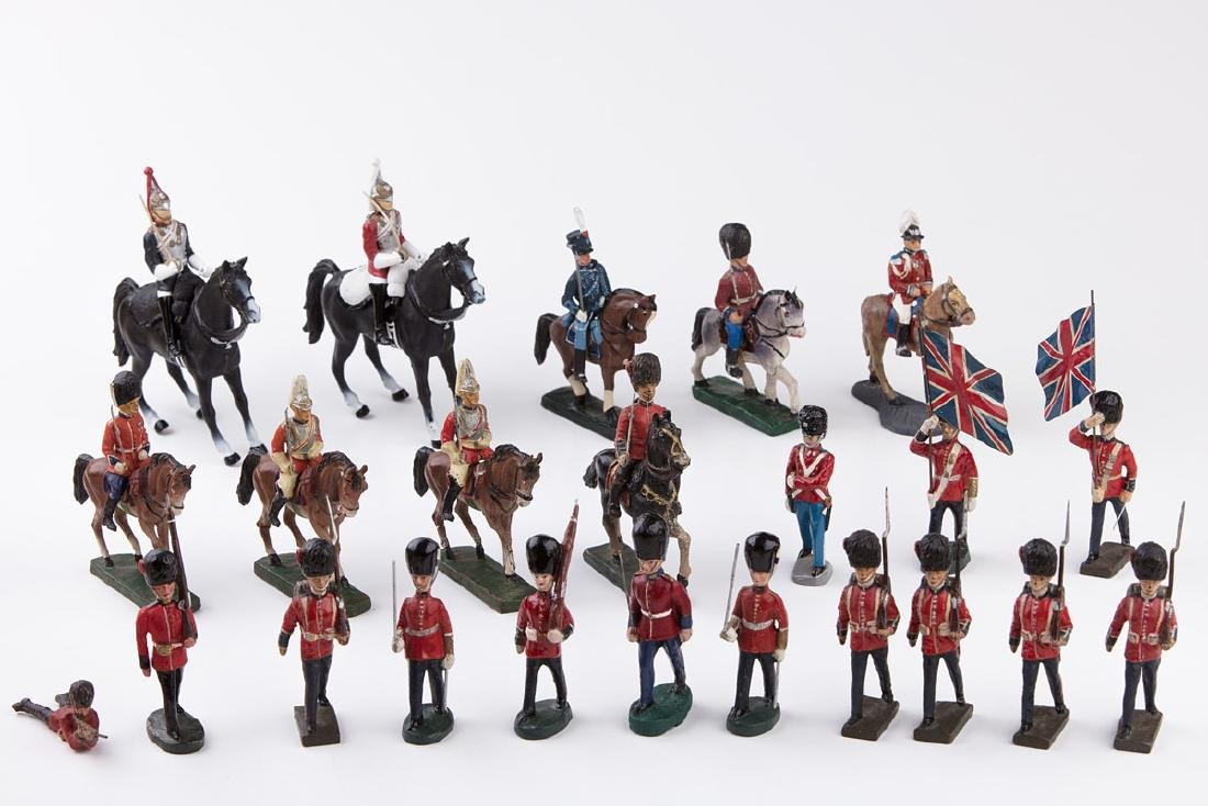 [ANGLETERRE] LINEOL - Garde royale anglaise. 5 soldats