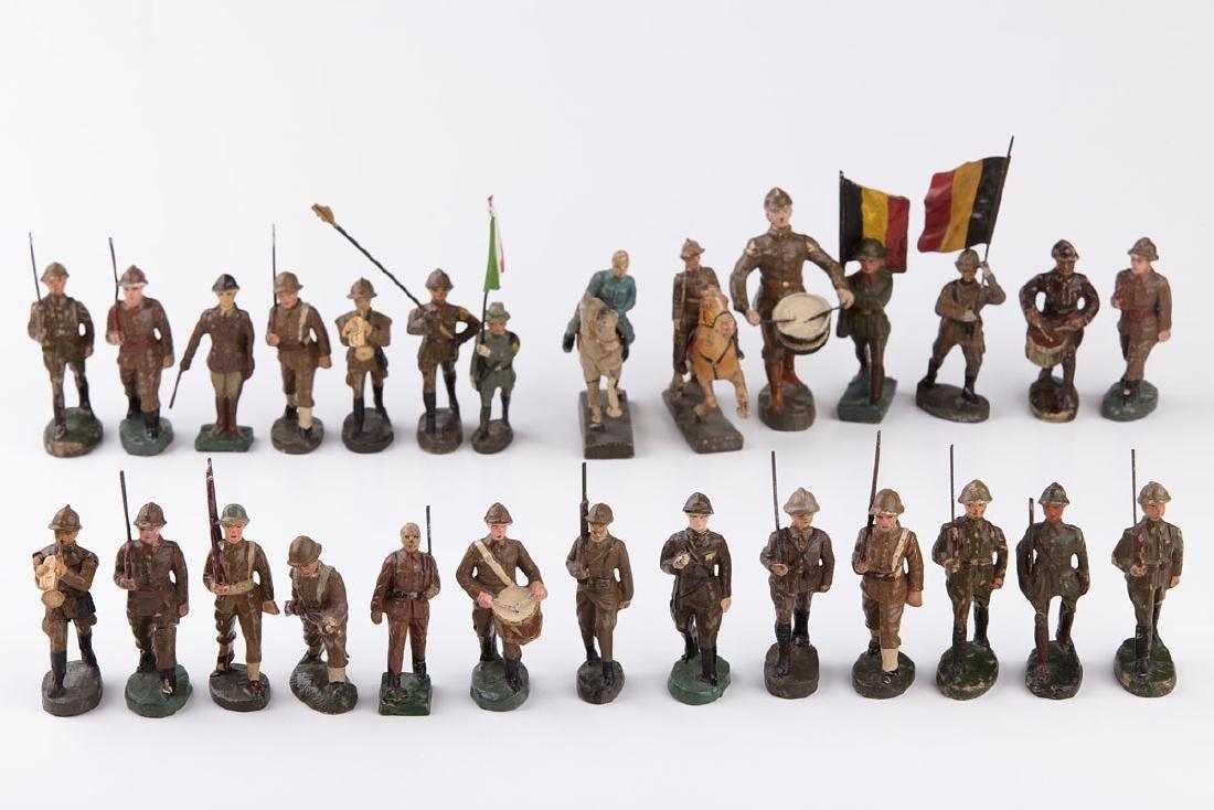 [BELGIQUE] ELASTOLIN - Armée belge. 2 clairons, 2