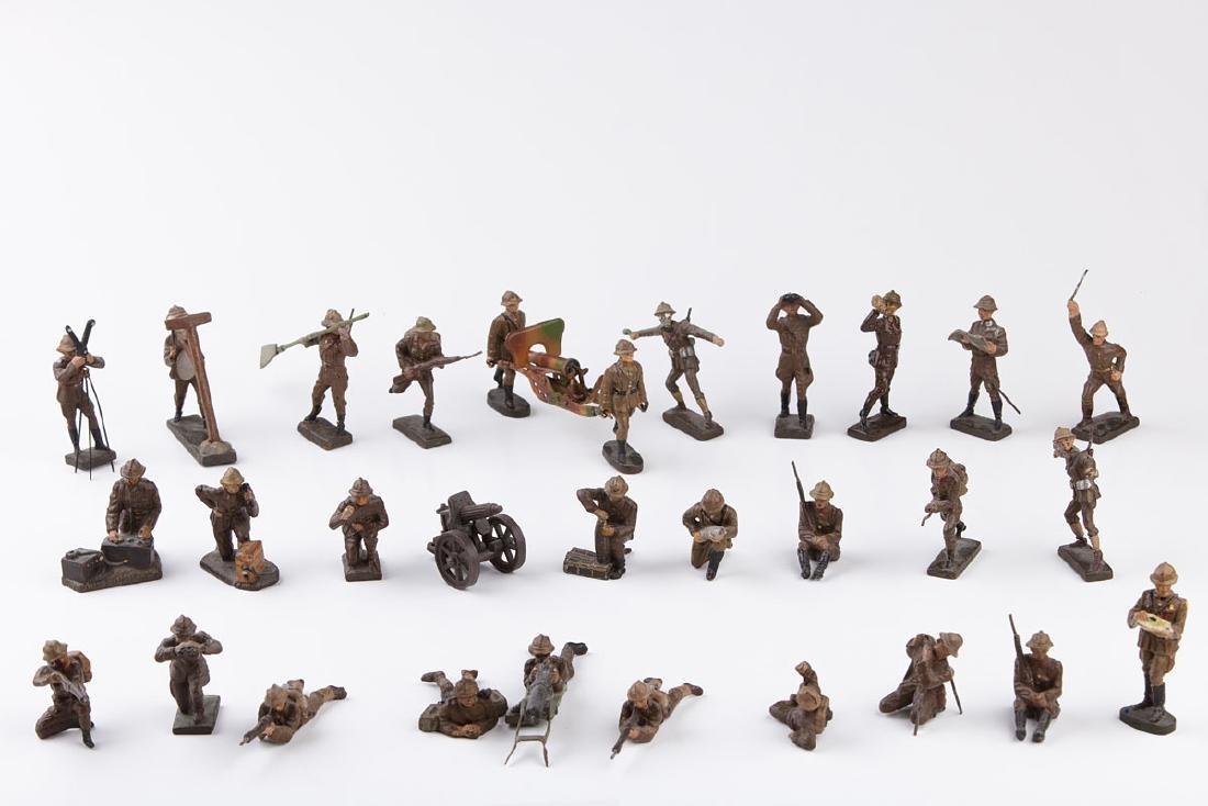[BELGIQUE] LINEOL - Armée belge. 11 soldats au combat,