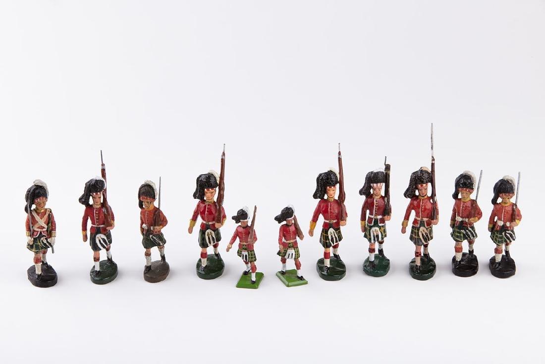 [ÉCOSSE] ELASTOLIN - Régiments écossais: 5 soldats