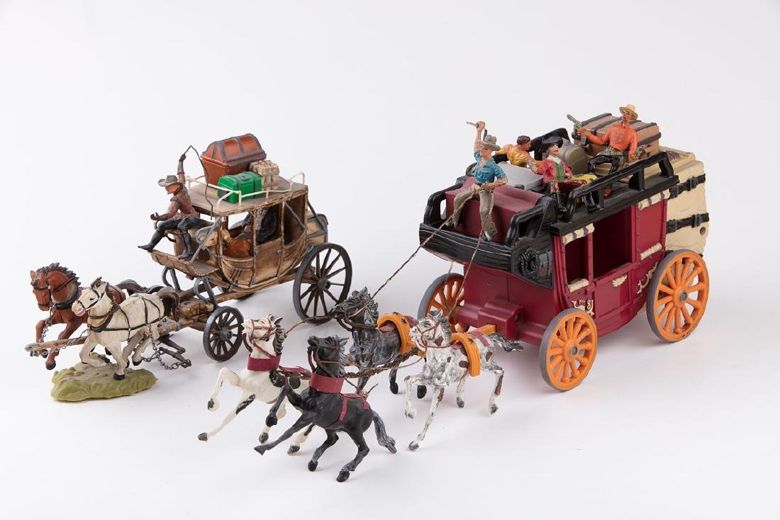 [FAR WEST] SANS MARQUE - 6 chariots de cowboys en plast