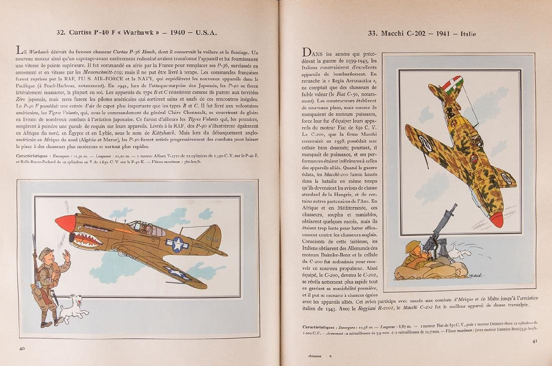 HERGÉ - L'Aviation. Guerre 1939 - 1945.