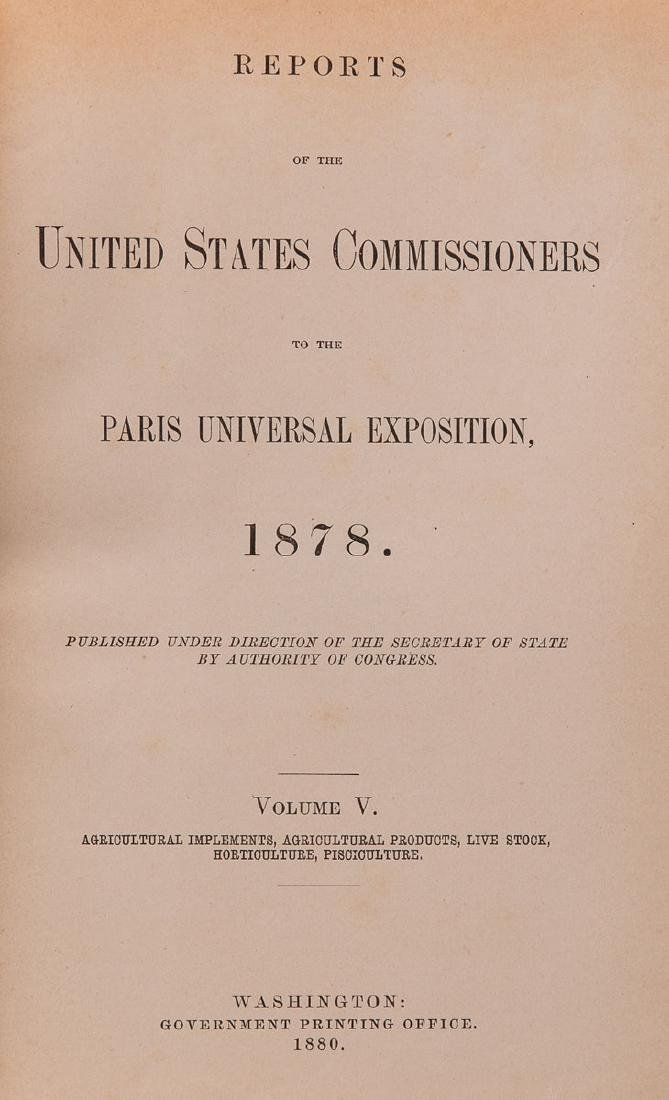 [EXPOSITIONS UNIVERSELLES] Reports of the United States