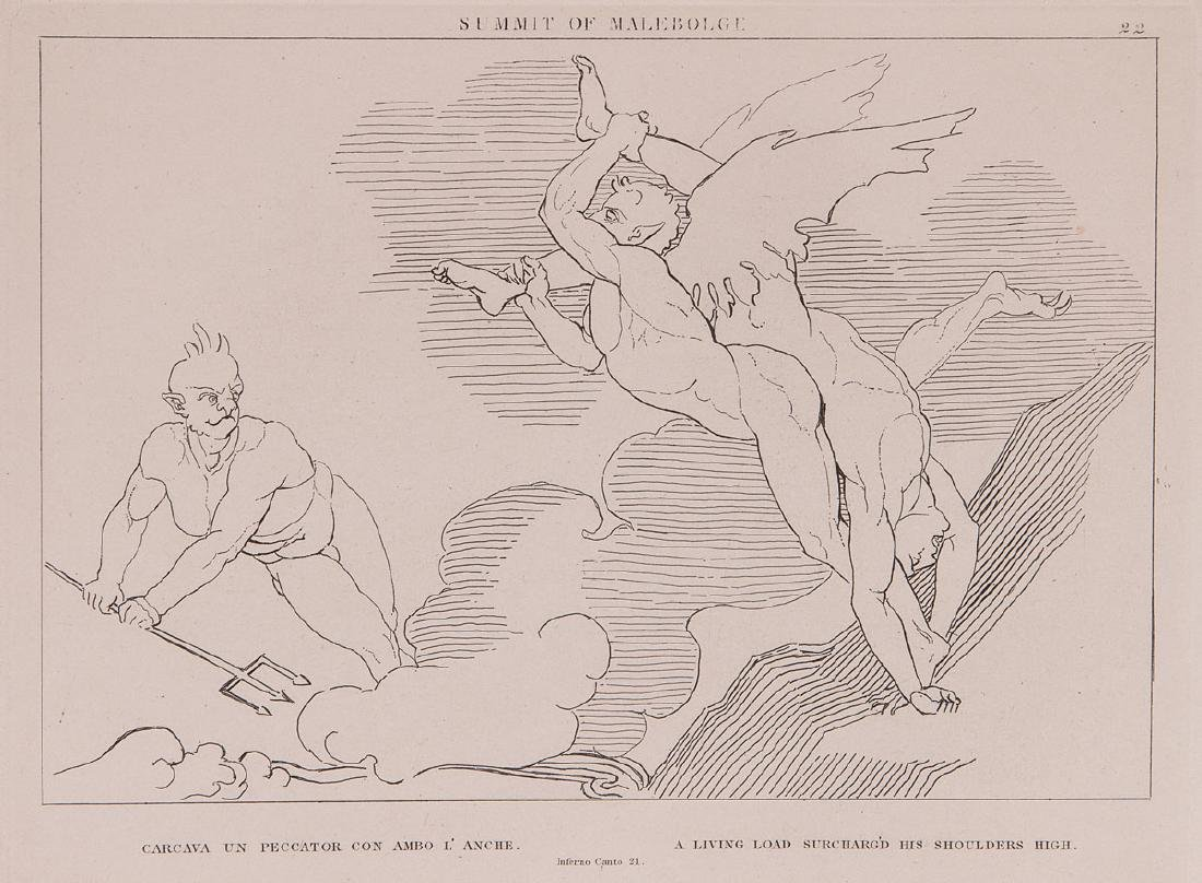 D'après John FLAXMAN - Compositions from the hell,