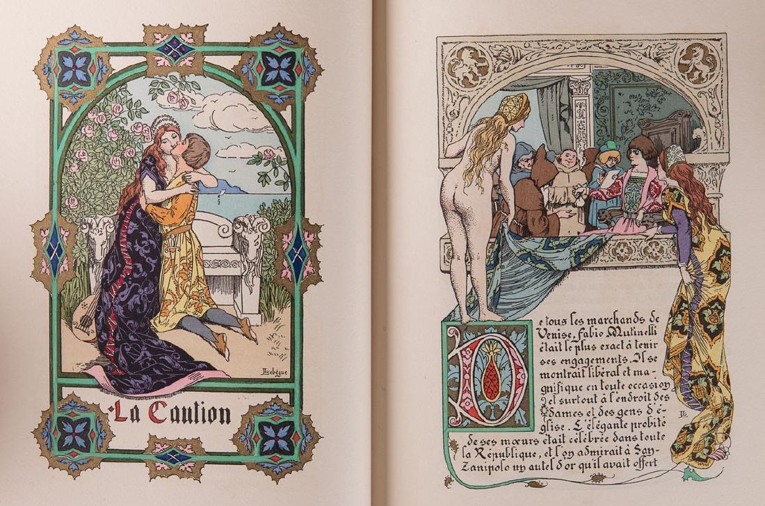 Anatole FRANCE - La Caution. Conte manuscrit et images