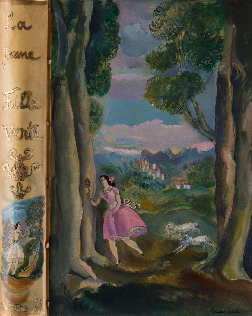 P.-J. TOULET - La jeune fille verte. Gravures de Hermin