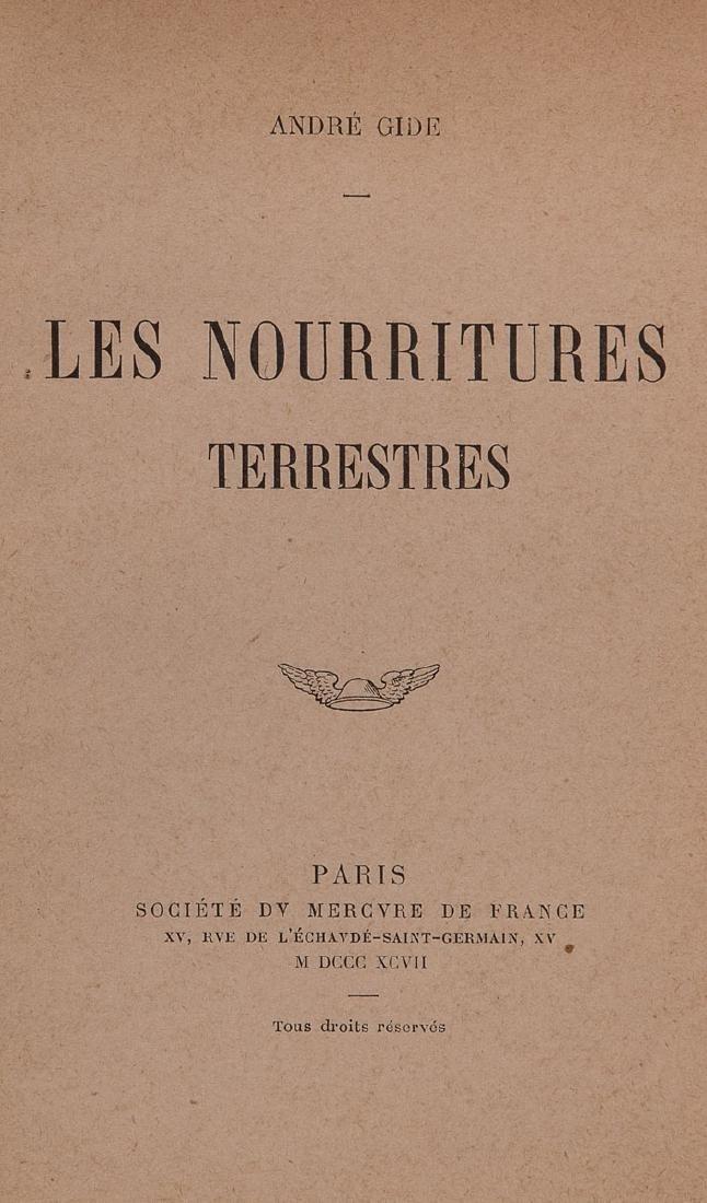 André GIDE - Les Nourritures terrestres.