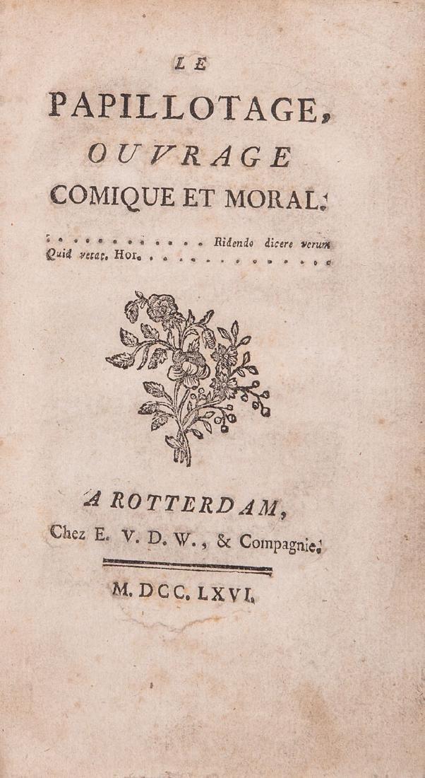 LE PAPILLOTAGE, ouvrage comique et moral.