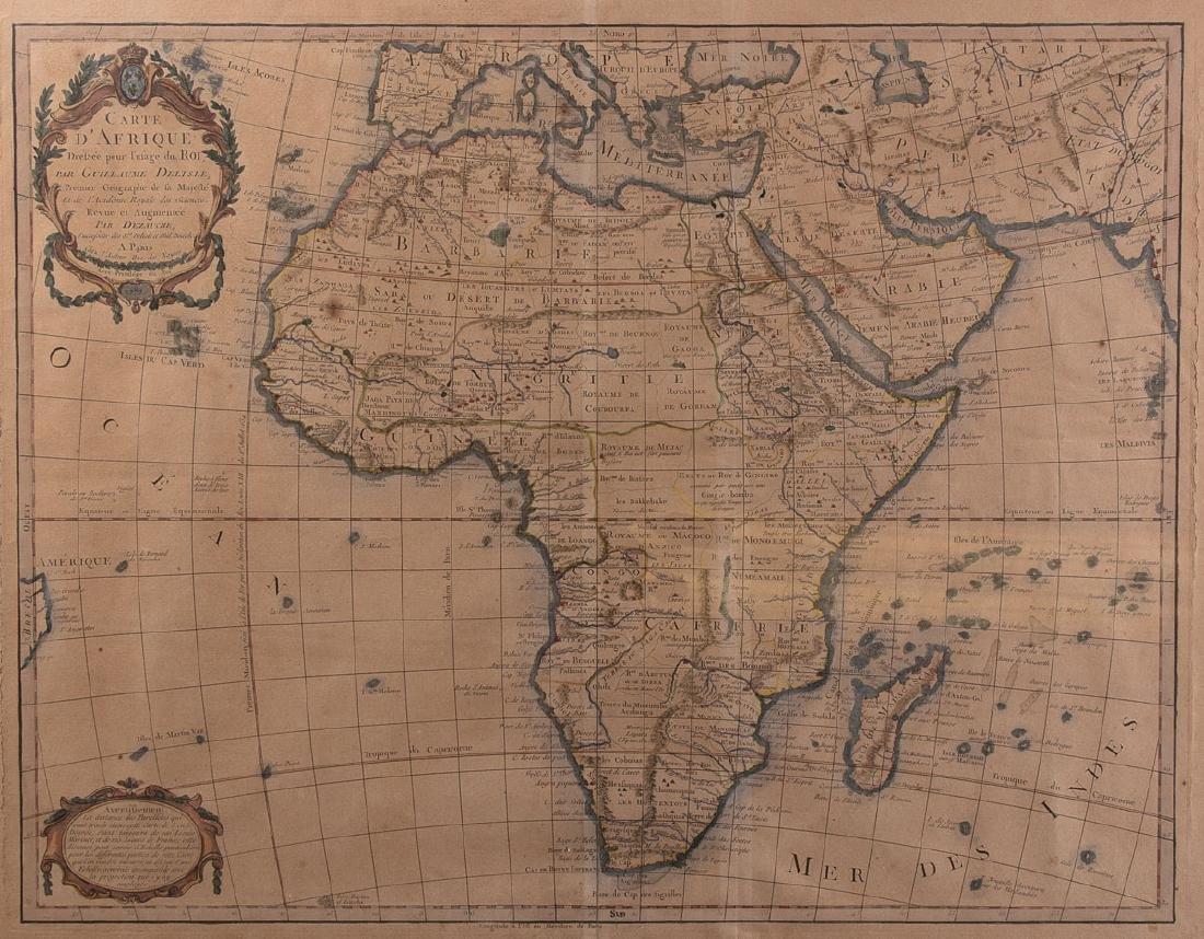 [AFRIQUE] Guillaume DELISLE - Carte d'Afrique dressée