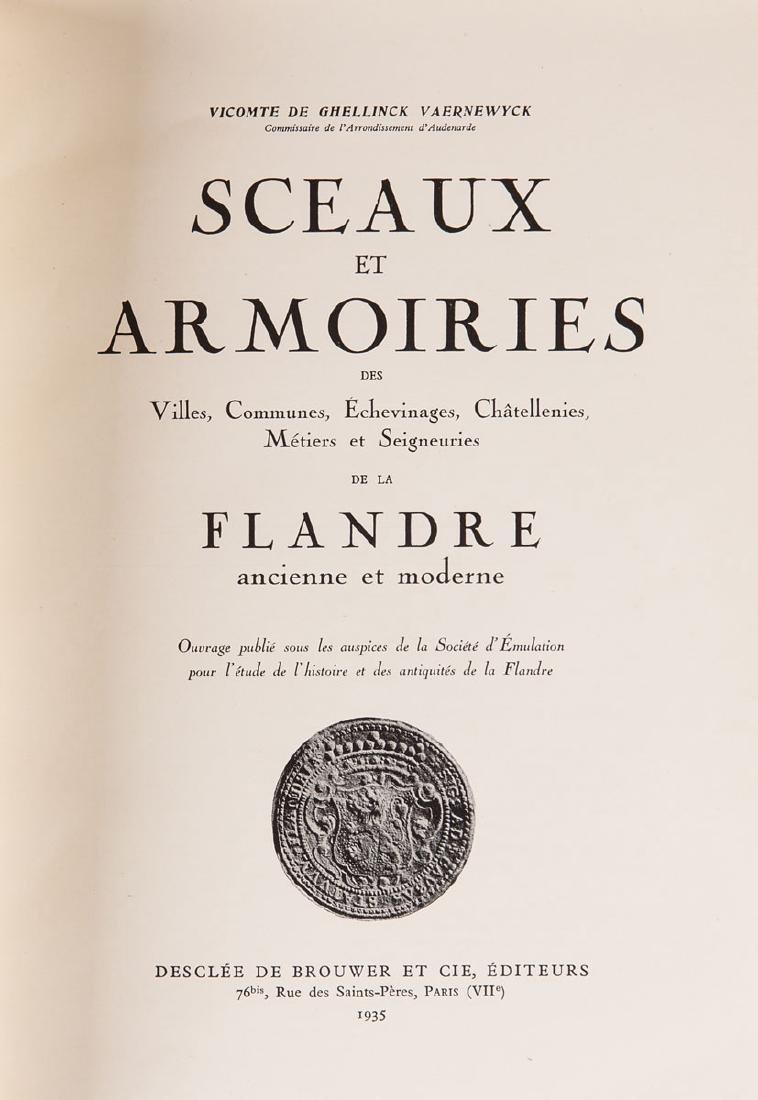 Vicomte de GHELLINCK VAERNEWYCK - Sceaux et armoiries d