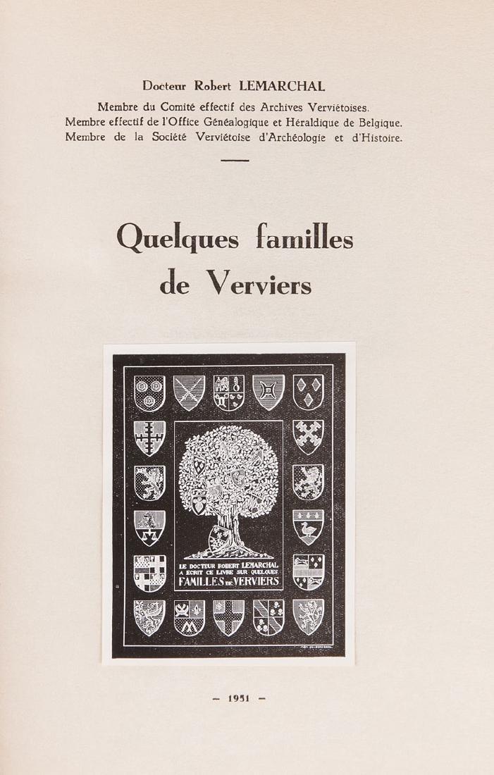 Docteur Robert LEMARCHAL - Quelques familles de Vervier