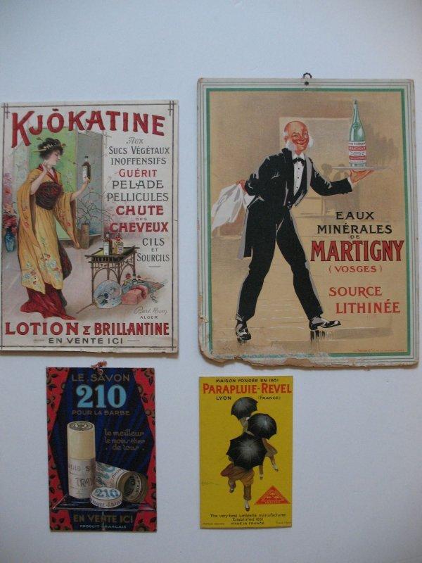 23: 6 publicités en couleur, certaines cartonnées, date