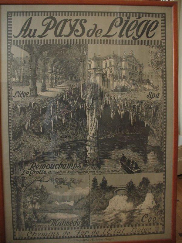 24: Au Pays de Liège Spa Remouchamps Affiche Poster