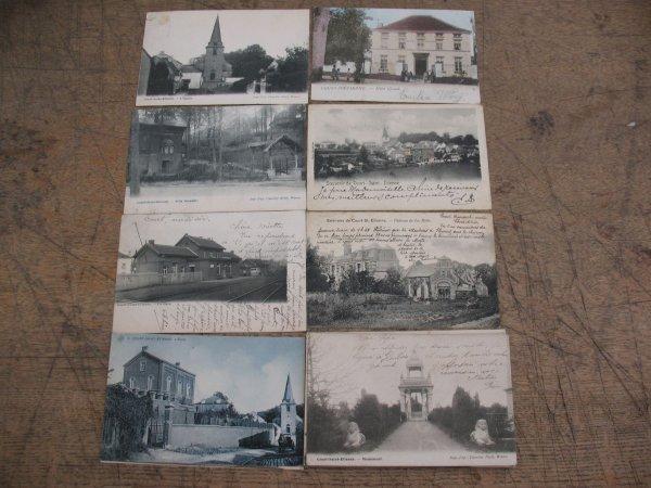 10: Cartes postales Court-Saint-Étienne 20 cp