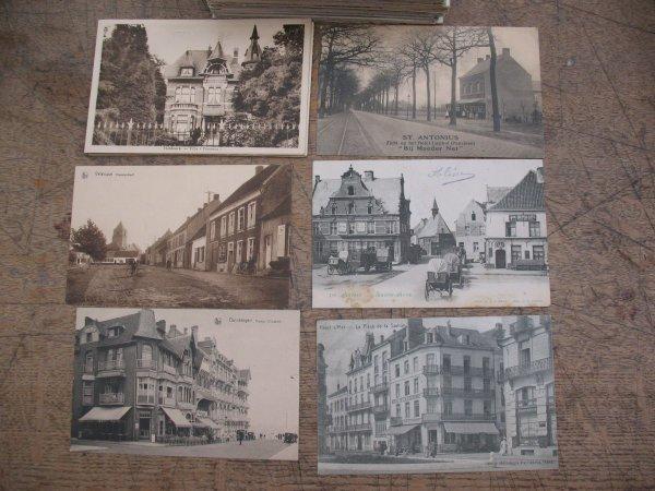 11: Carte postale Flandre: Anvers Gand La Côte Bruges